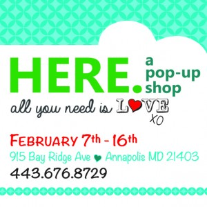 HERE A Pop Up Shop