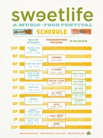 Sweetlife Schedule