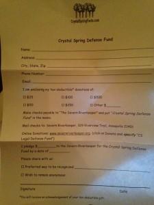 Crystal Spring Defense Fund