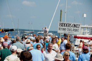 This year, more than 90 boats, ranging in size and performance from sailing dinghies to cabin cruisers, will be available to the highest bidders at the Chesapeake Bay Maritime Museum's 17th annual charity boat auction, to be held Saturday, August 30 (Labor Day weekend) along the museum's 18-acre waterfront campus in St. Michaels, MD. Donated boats and gear are still being accepted for the event, with all proceeds benefiting the people served by the non-profit museum. See the inventory at www.cbmm.org/boatauction or contact Lad Mills at lmills@cbmm.org or at 410-745-4942 for more information.