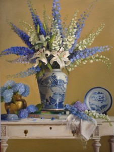 Lois Engberg, Passion for Flowers, oil