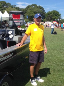 Rick Snider won the boat and trailer package