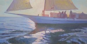 Lee Boynton, First Light Somerset, oil, at McBride Gallery