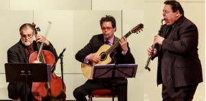 The Clazzical Project blends classical pieces with jazz renditions and humor and comes to Annapolis, Friday April 24, 8 pm at the Unitarian Universalist Church of Annapolis. Don Stapleson (flute), Pete Fields (guitar)and Fred Lieder (cello) pictured above will be joined by guest pianist Brian Ganz.