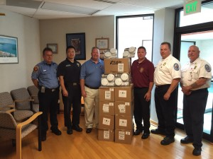 Local 1563 smoke alarm donation