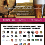 Unlimited samples of 60 wines and 40 brews at Kegs and Corks Fest