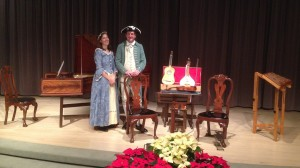 David and Ginger Hildebrand feature early music found in the greater Annapolis area using authentic instruments and voice on Friday September 25, 8 pm at the Unitarian Universalist Church of Annapolis.  Photo Credit: Tanya Lyons