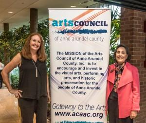Arts Council President Marnie Kagan and Arts Council Board Member Martha Blaxall.