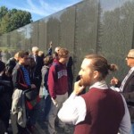 "Annapolis film students get personal tour of ""The Wall"" from Vietnam War Memorial founder"