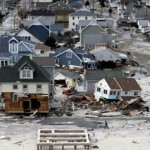 Damage from Hurricane Sandy, New Jersey.