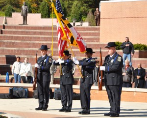 Anne Arundel Community College's Color Guard is always a part of the college's annual Veterans Day Ceremony. This year's event occurred on Wednesday, Nov. 11.