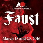 Faust, by the Annapolis Opera coming to Maryland Hall this week