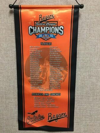 Baysox Championship Banner Giveaway
