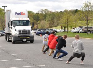 At Anne Arundel Community College's 5th Annual Truck Pull, teams of five persons will compete in pulling an empty delivery truck across a set path, about 90 feet long, with the fastest time. This year's event is from 10 a.m. to 1 p.m. Thursday, April 21, at AACC's Parking Lot C on the Arnold campus, 101 College Parkway. For information, visit http://www.aacc.edu/business/truckpull.cfm In addition, participants can compete in the Supply Chain Relay and the Load-the-Truck Relay using the latest technology.