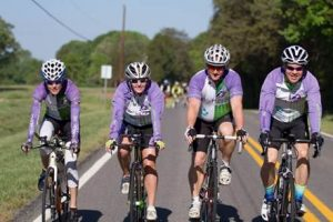 From left, Karen Buxton, Becky Sage, Chip Harris and Charles Fields make up Team Tri For Hospice, a group who is participating in the 2016 Race Across America and raising money and awareness for nonprofit hospice programs. Courtesy photo