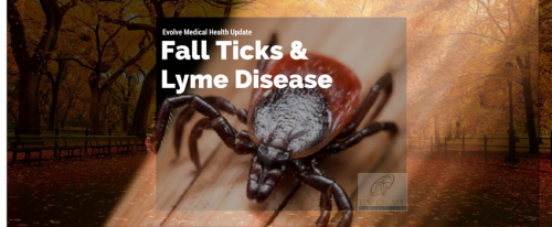 Fall Ticks and Lyme disease evolve medical clinics Annapolis Arnold Severna Park Edgewater Davidsonville Gambrills Crofton Bowie Glen Burnie Pasadena