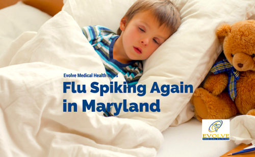 Flu rates are spiking again in Maryland from Evolve Medical Clinics, the highest rated primary care and urgent care serving Annapolis, Edgewater, Davidsonville, Gambrills, Crofton, Stevensville, Arnold, Severna Park, Pasadena, Glen Burnie, Crofton, Bowie, Stevensville, Kent Island and Waugh Chapel.