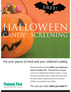 patient first wants everyone to enjoy the frightful fun this halloween by offering free digital x ray imaging of halloween candy