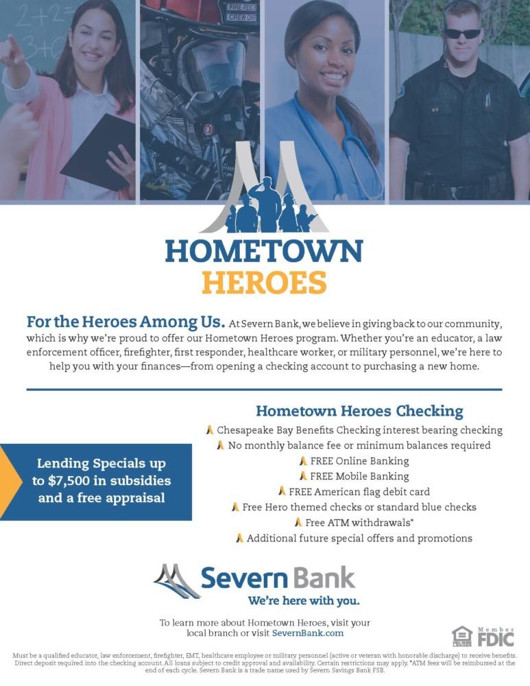 Severn Bank offer program for Hometown Heroes