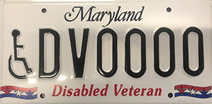 Maryland to redesign Disabled Veteran's license plate
