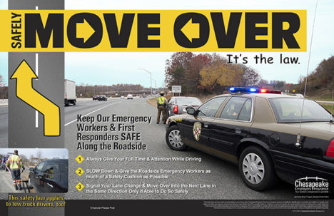 Move over–or get a ticket It's the law!