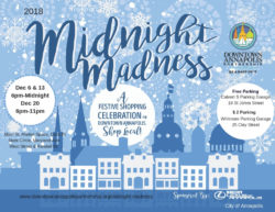 Get ready for Annapolis's Midnight Madnesses starting next week