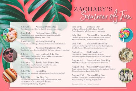 More Summer of fun at Zachary's Jewelers