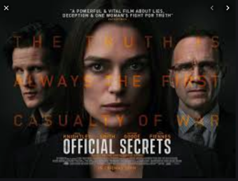 "Annapolis Film Festival to screen ""Official Secrets"" on TONIGHT at Maryland Hall"