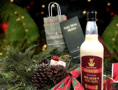 No better way to ring in the holidays than with a bottle of egg nog from Galway Bay