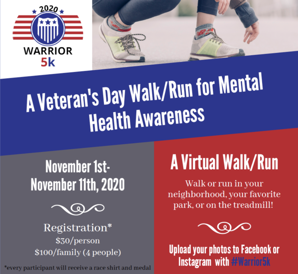 Warrior Music Foundation launches virtual 5K fundraiser for mental health awareness